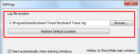 Keyboard Tracer Log file location
