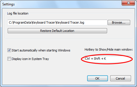 Hotkey to Show/Hide main window